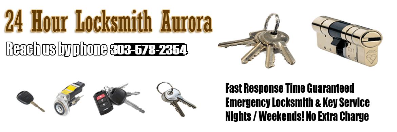 24 hour Locksmith Aurora CO Banner